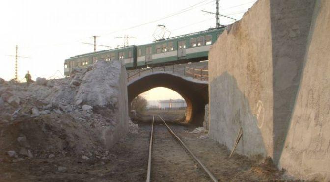 Épül a csepeli HÉV híd 1