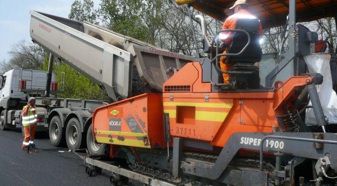 4-es főút Hajdú-Bihar megyei szakaszának 11,5 tonnás burkolaterősítési munkái 3