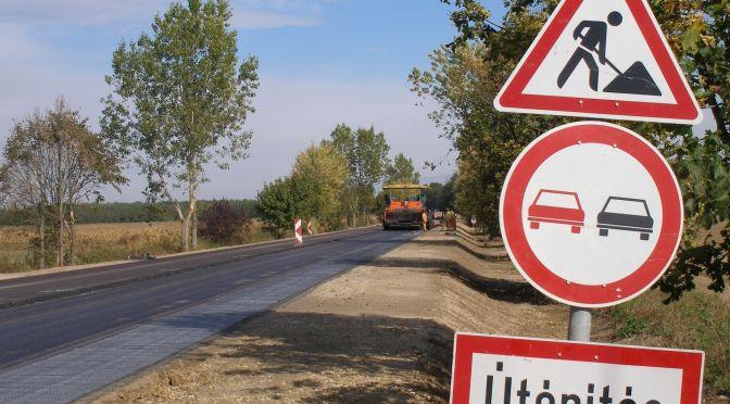 86-os főút 11,5 tonnás burkolaterősítése Zala megyében 1