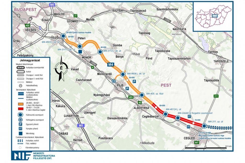 M4 autópálya II-es építési szakasz (Albertirsa-Cegléd)