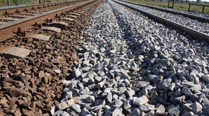 Nagyút-Mezőnyárád vasútvonal zúzottkő szállítás 1